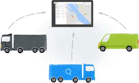 Download Tachograph data remotely. Save time.