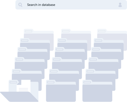 Keep the database of all your clients and orders