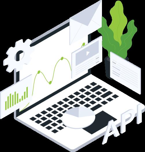 API integracijos nereikalaujančios jokių papildomų pastangų sklandžiai darbo eigai