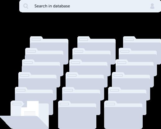 Houd de database bij van al uw klanten en opdrachten