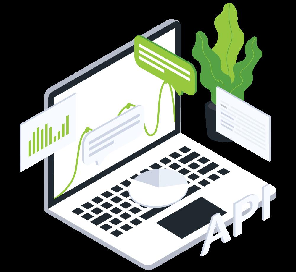 Send data til eksterne systemer ved hjelp av API