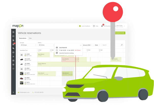 Förenkla delningen av företagsfordon mellan anställda med fordonsbokning