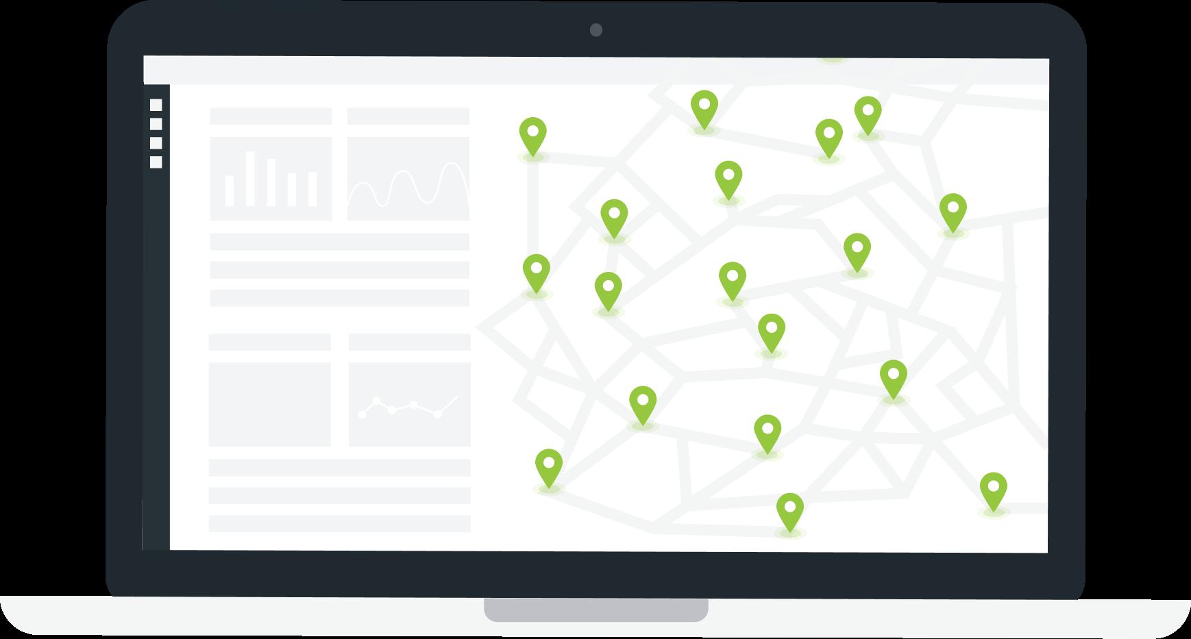 Online kart som viser alt