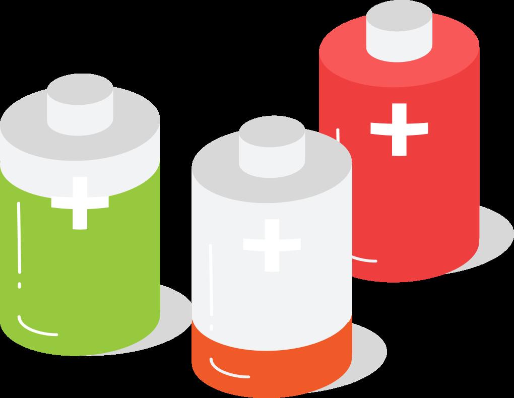 Controleer de batterijstatus