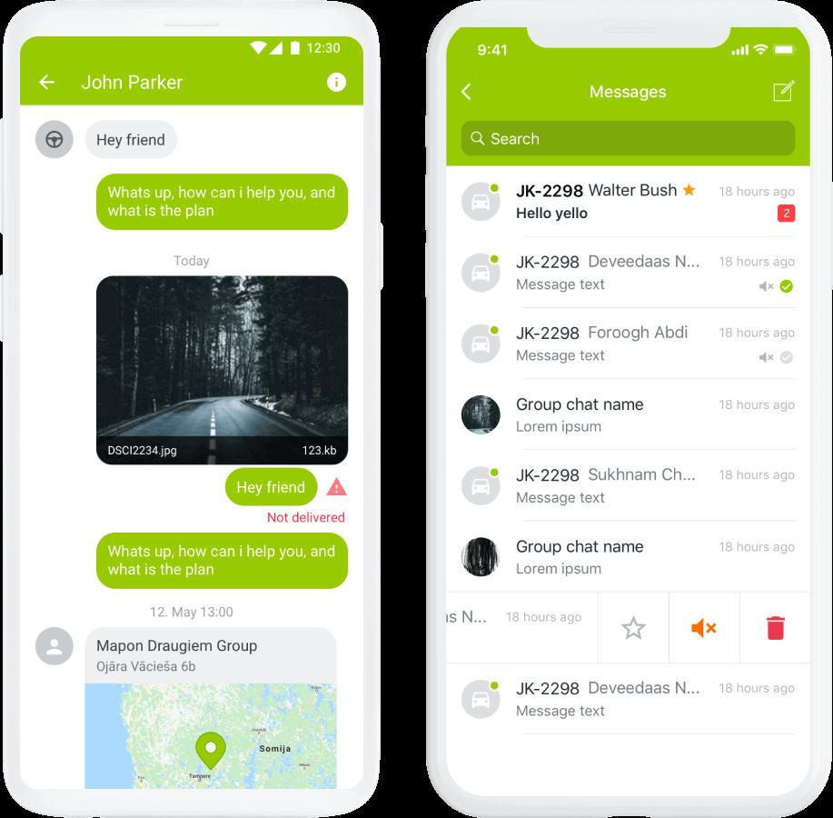 Pidä yhteyttä kuljettajiisi missä ja milloin tahansa
